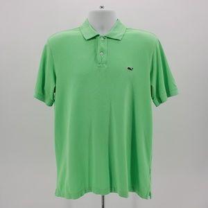 Vineyard Vines neon green polo shirt Medium